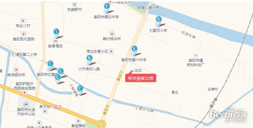 利华皇家公馆交通图