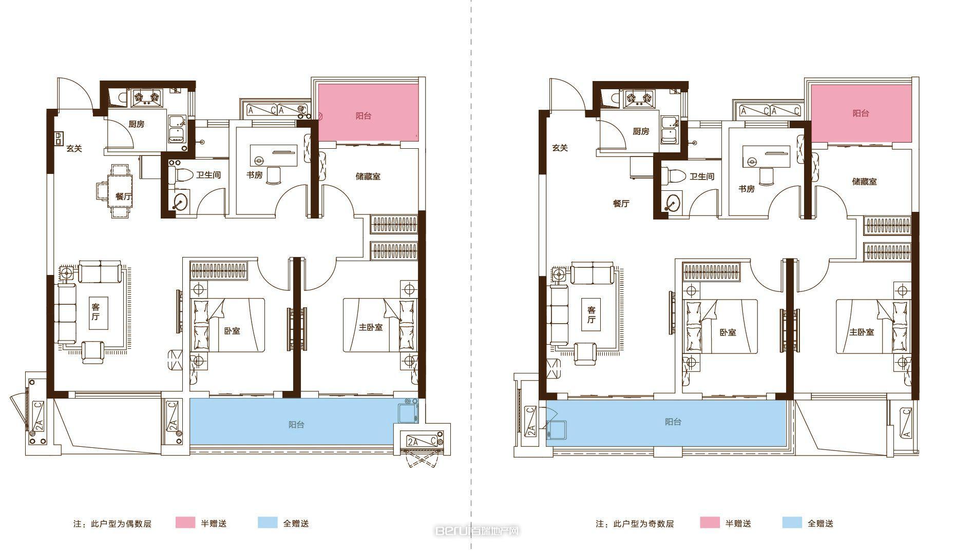 4室2厅1卫106㎡