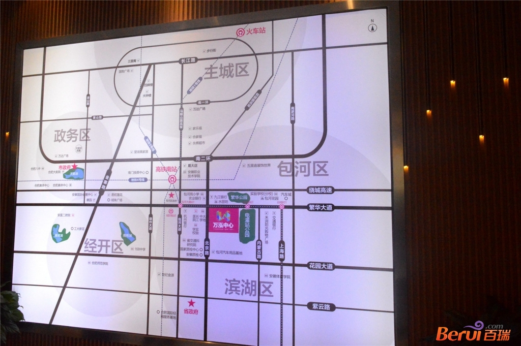 万泓中心交通图