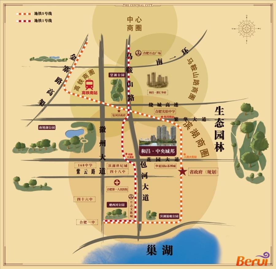 和昌中央城邦交通图