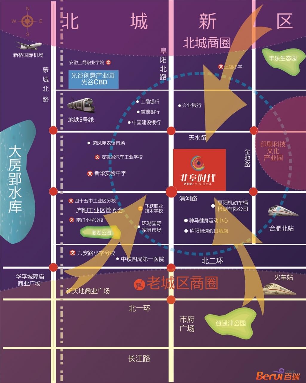北阜时代公寓交通图