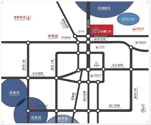 中辰创富工坊交通图