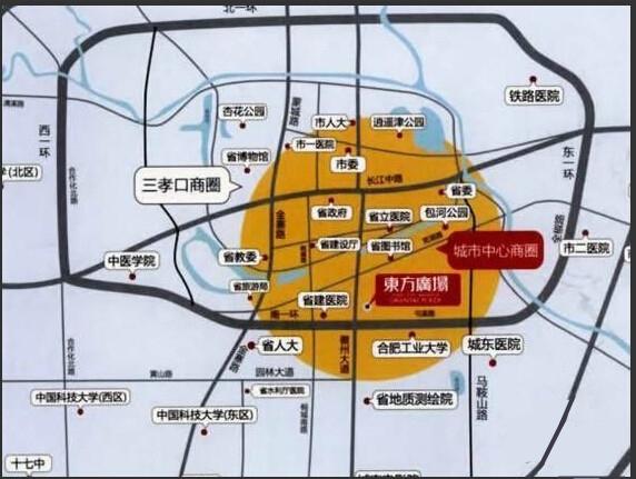 东方广场交通图