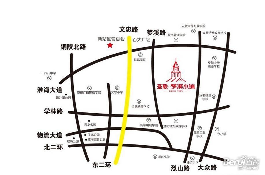 圣联梦溪小镇交通图