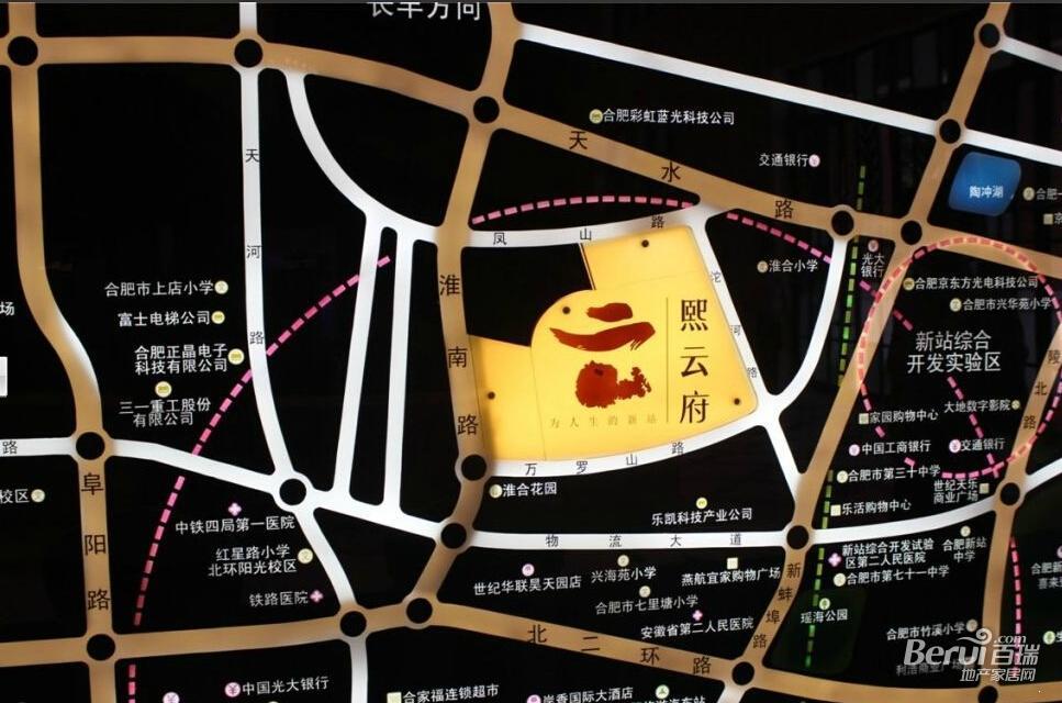 华润熙云府交通图