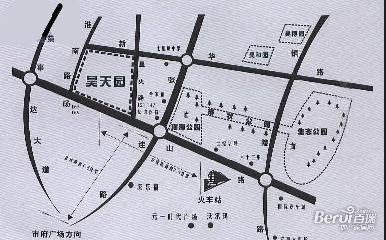 隆昊昊天园交通图