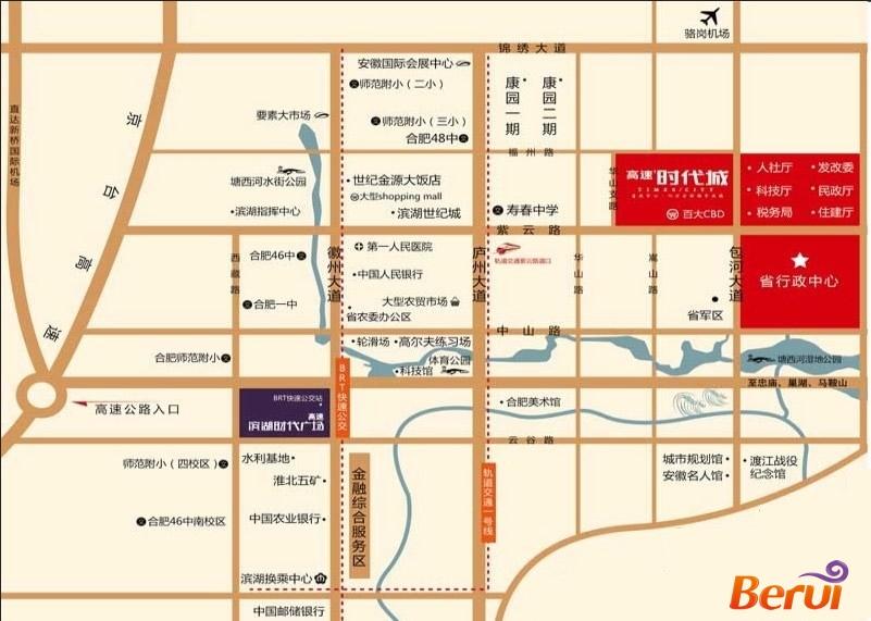 高速中央广场交通图