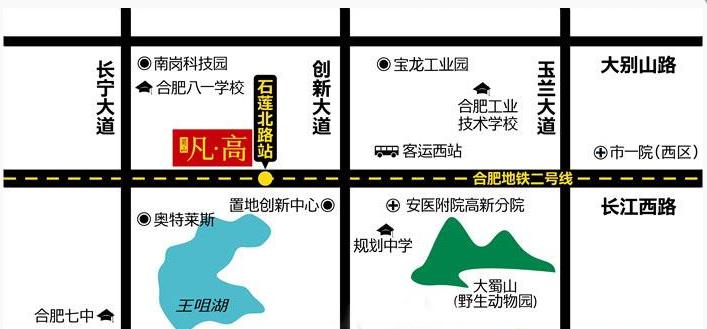 蜀山凡高交通图