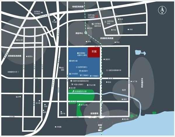 滨湖新地城交通图
