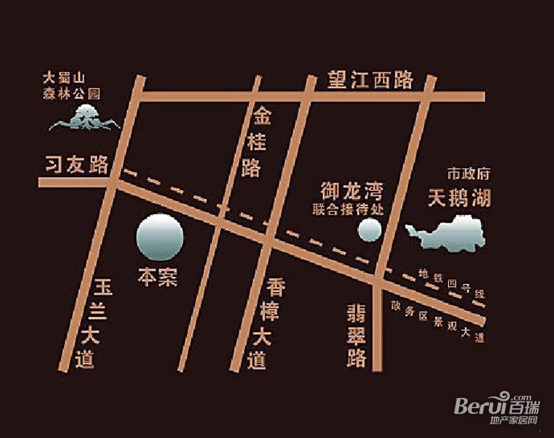 御景城 区位图