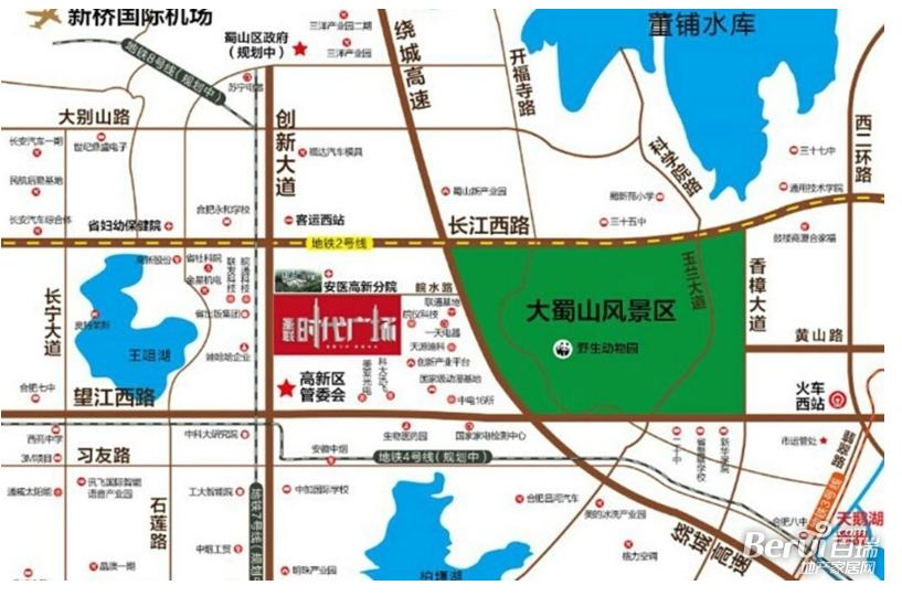 圣联时代广场SOHO公寓交通图