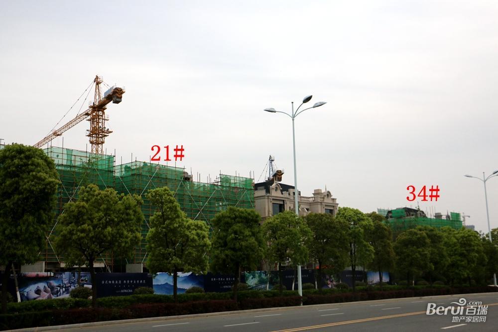 蓝光雍锦半岛21#、34#已经封顶