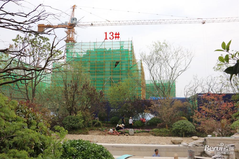 蓝光雍锦半岛13#已经封顶