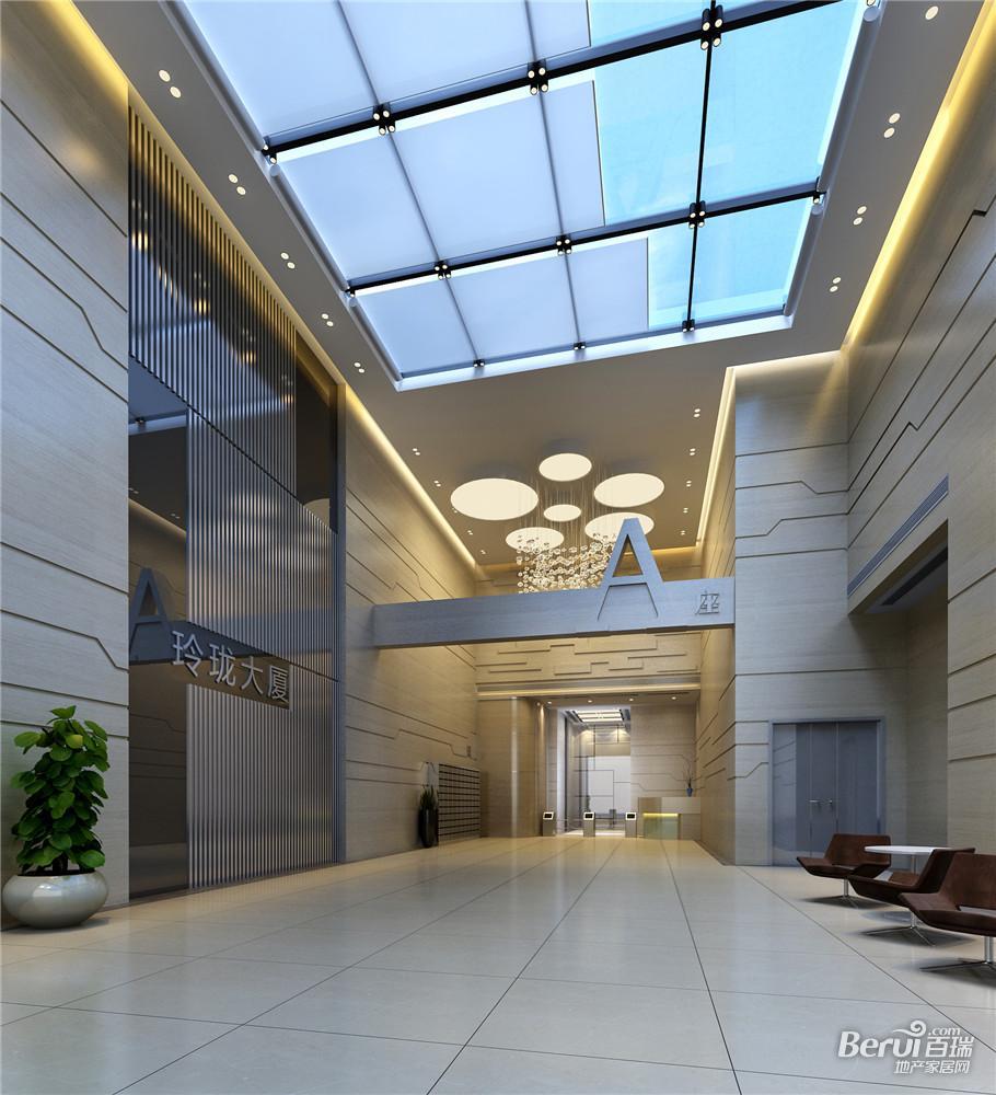 玲珑大厦A楼门厅内视角效果图