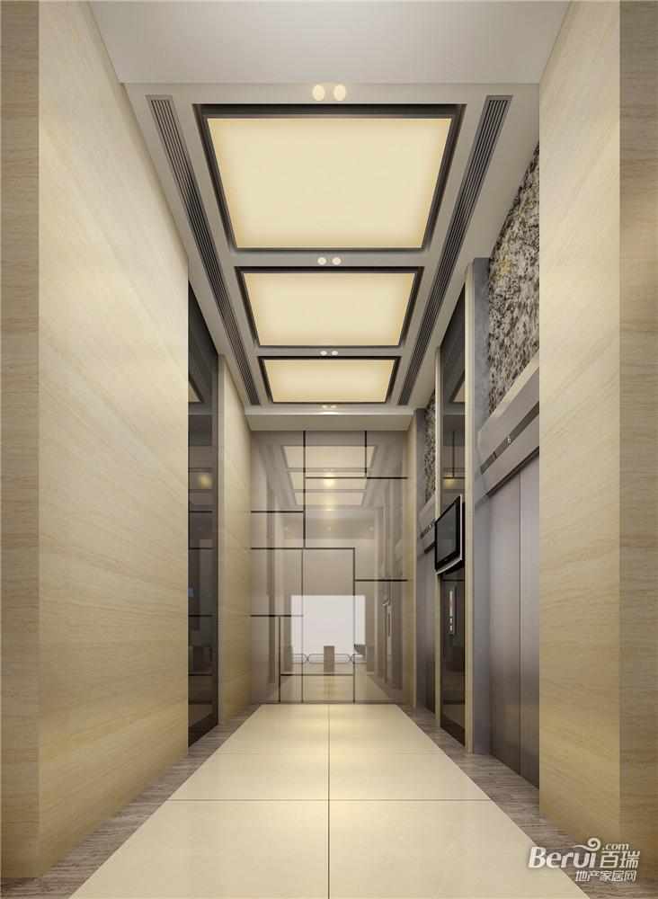 玲珑大厦首层电梯厅效果图