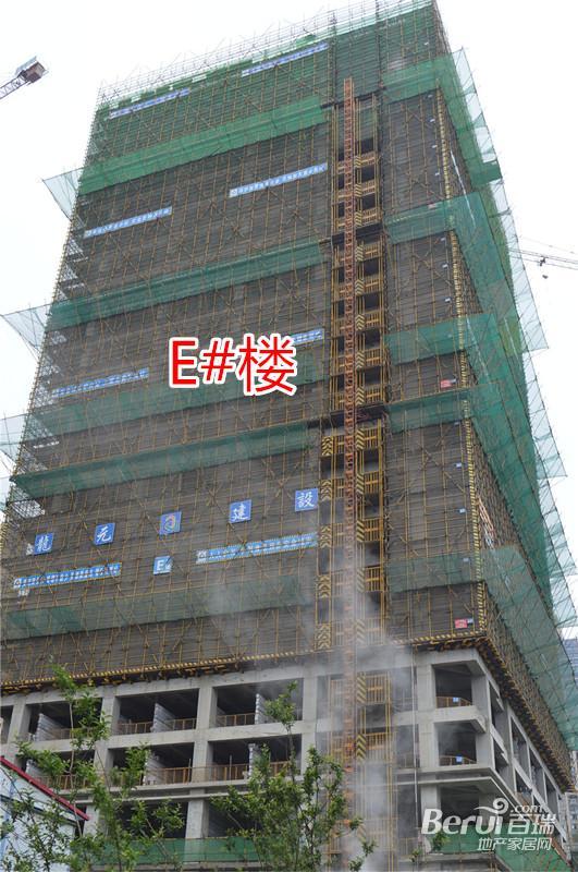 绿地中心E#楼绿网拆除中