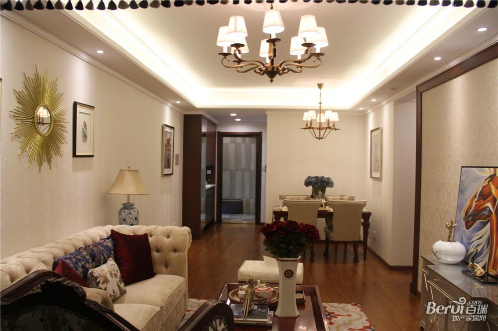 中国铁建国际公馆107㎡B1样板间客厅