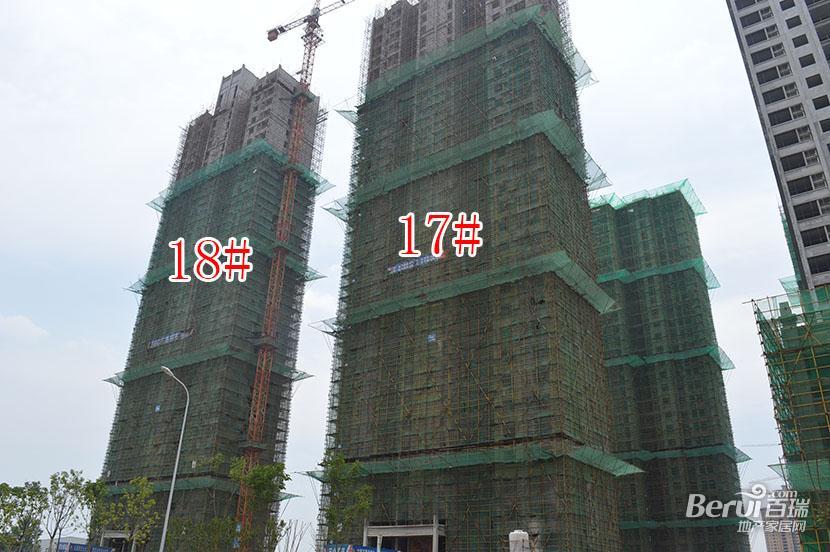 御景嘉苑17#、18#楼封顶