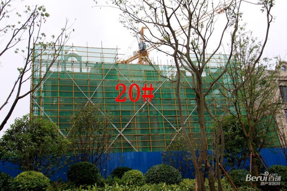 蓝光雍锦半岛20#已经封顶
