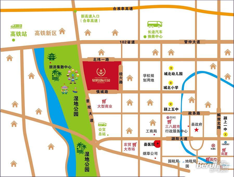 易景国际花园交通图