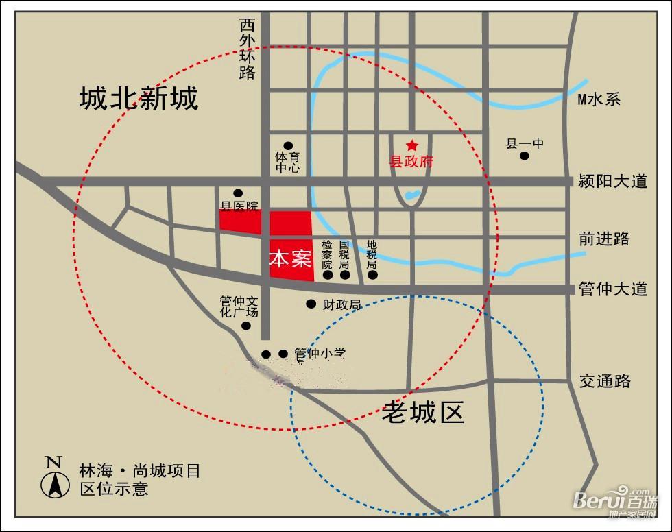 林海尚城交通图