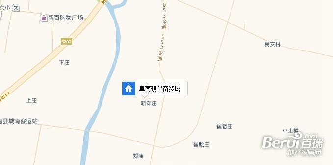 阜南现代商贸城交通图