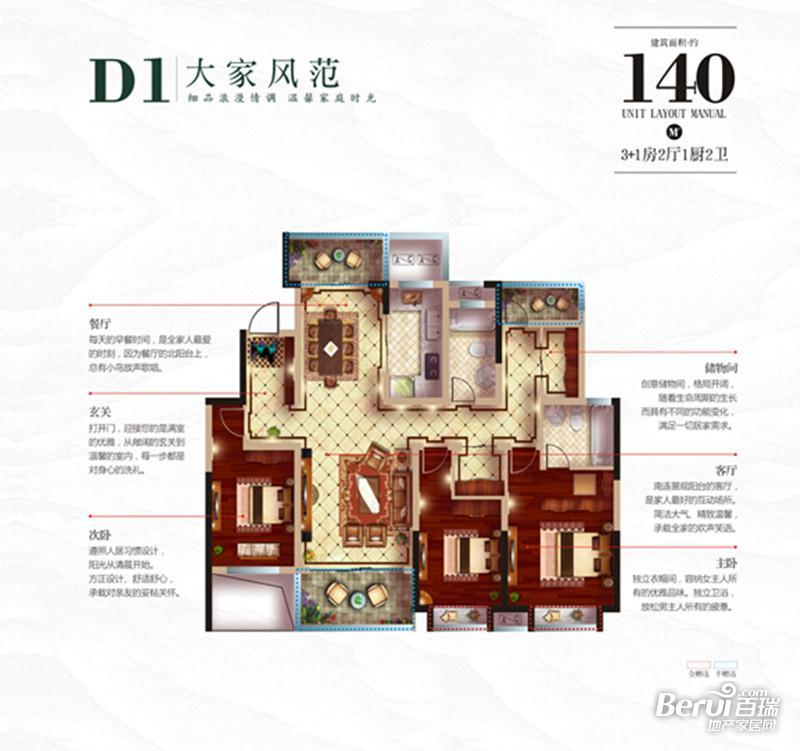 皖新文化广场翡翠庄园D1
