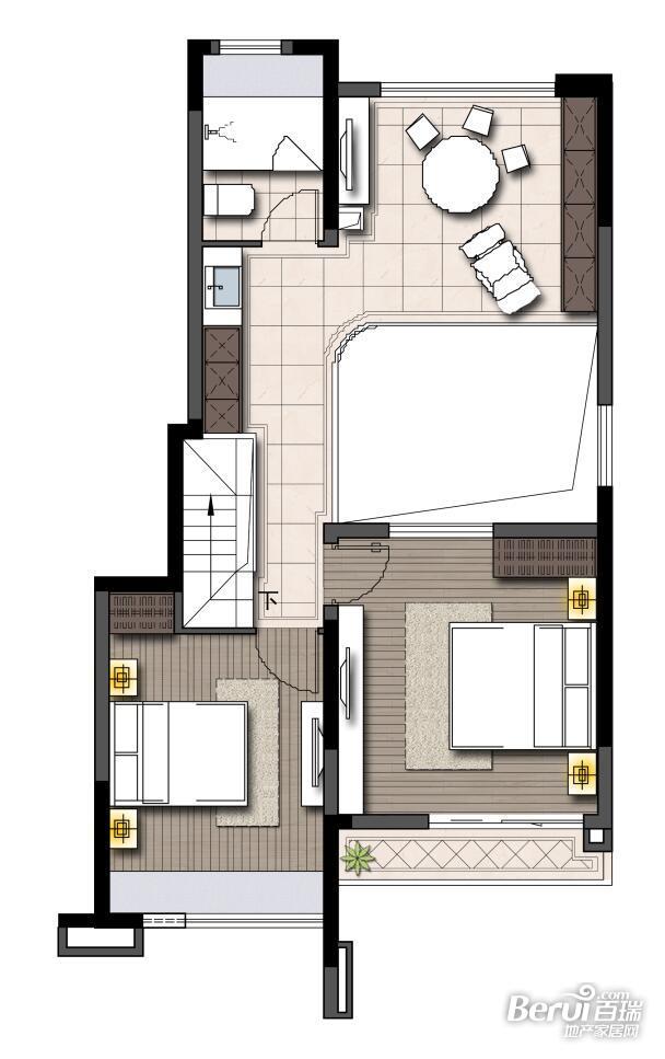 鹭山湖 乐活岛挑高(1楼)(二层)