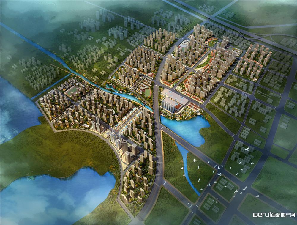 北城世纪城全区鸟瞰