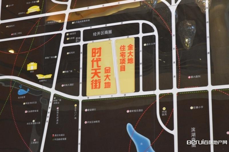 金大地时代天街交通图