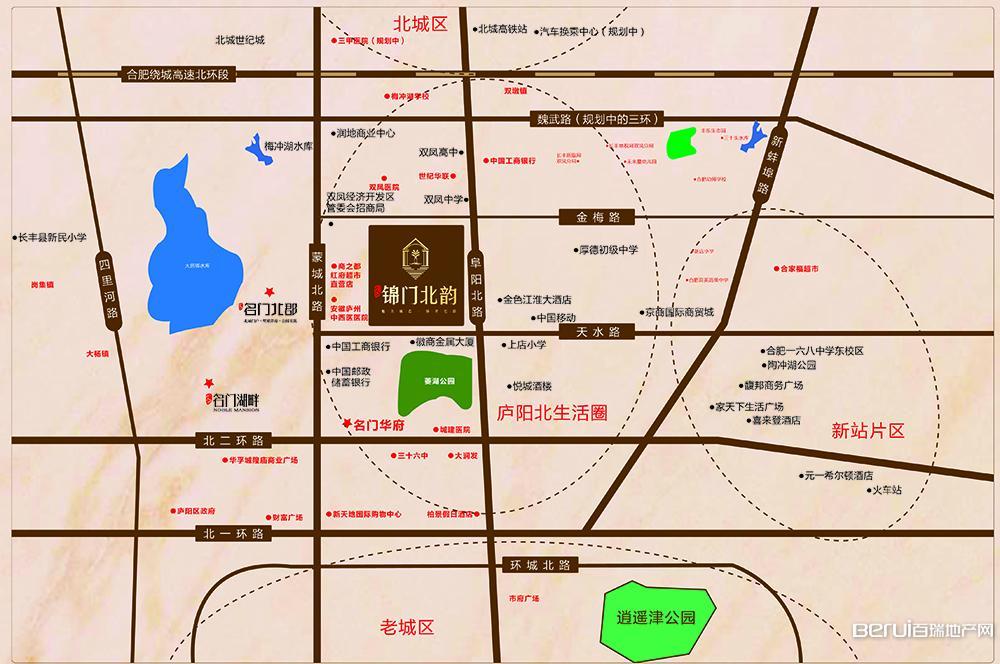 文一锦门北韵交通图
