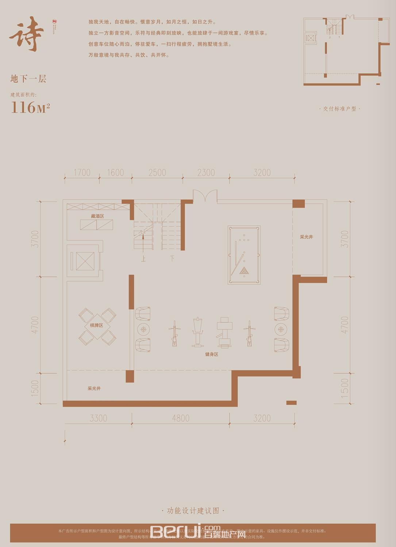 铂悦庐州府B1 B2 B3 B5别墅402㎡地下一层
