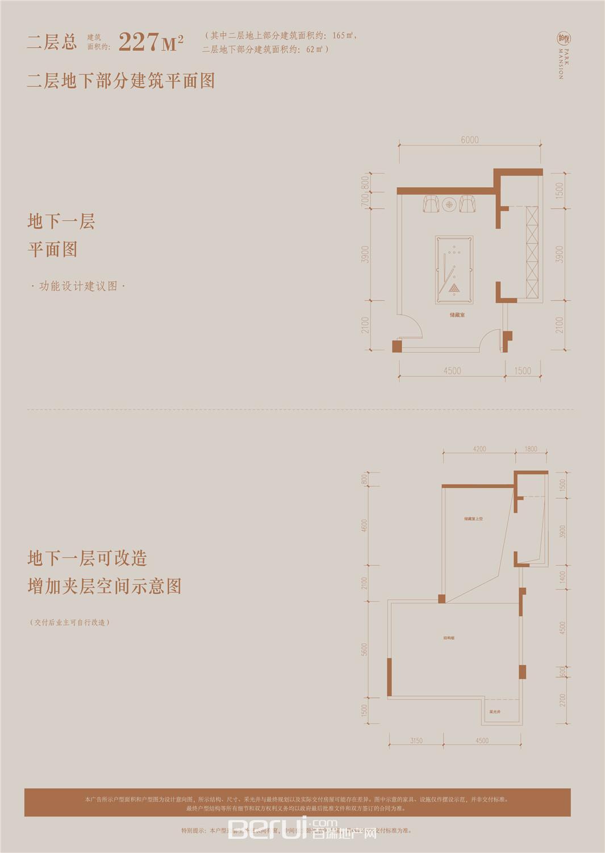铂悦庐州府Y9 Y10 Y11 洋房227㎡二层地下部分建筑