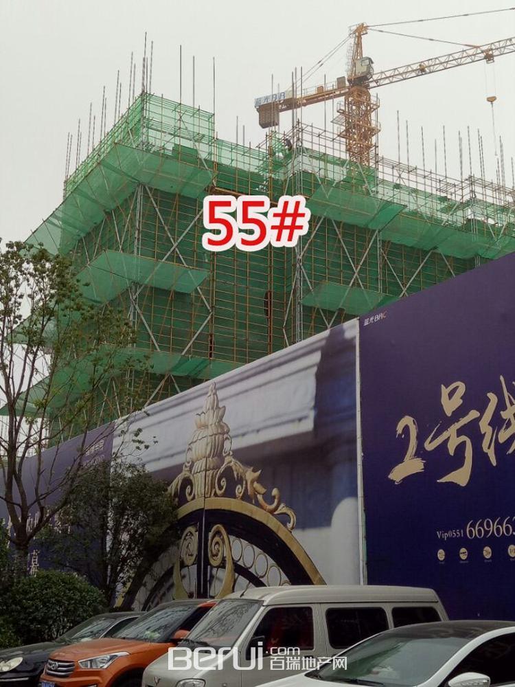 蓝光雍锦半岛55#即将封顶