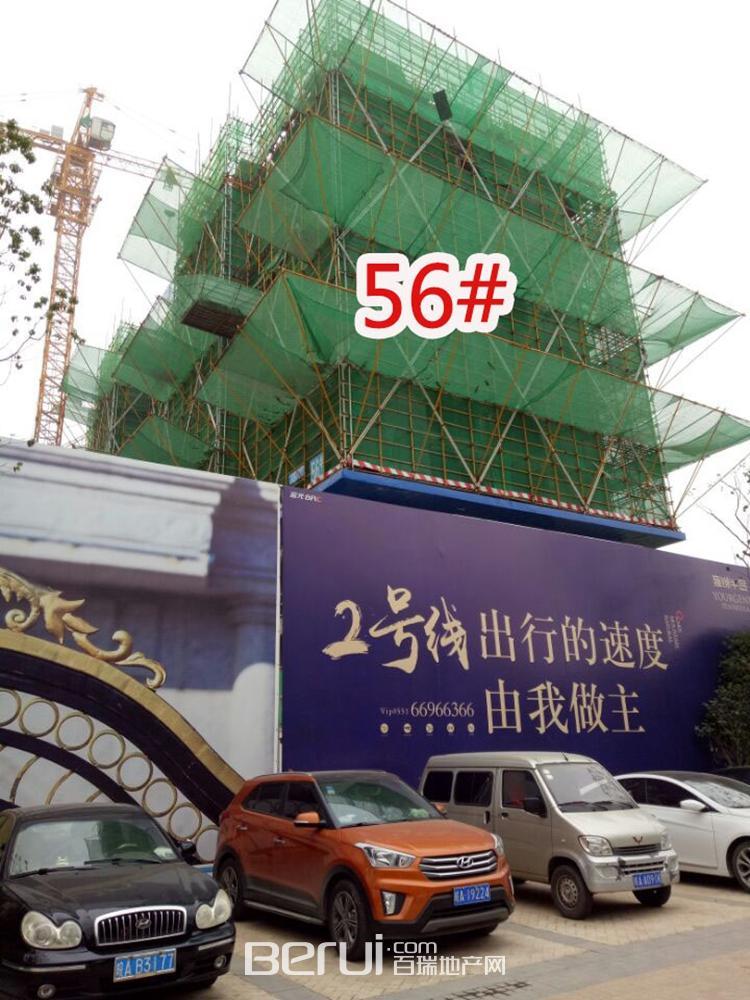 蓝光雍锦半岛56#即将封顶