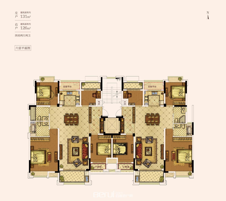 花山堡墅6层