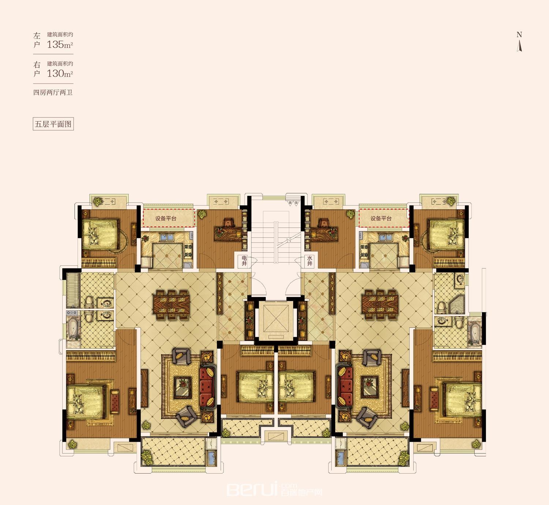 花山堡墅5层
