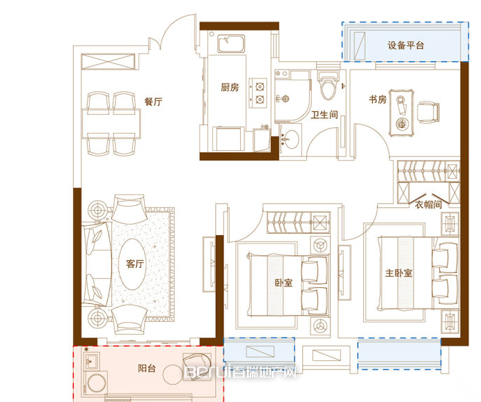 3室2厅1卫94㎡