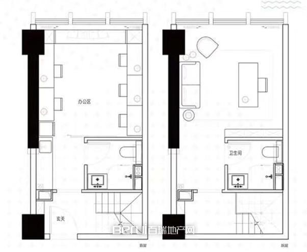 天鹅湖MOMA商办公寓户型