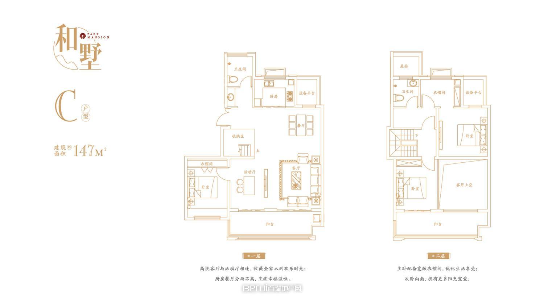 叠墅C和墅147㎡户型图
