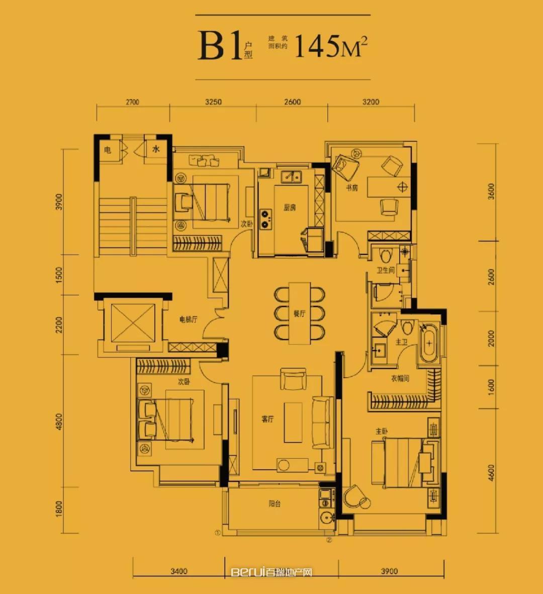 中国府B1-145㎡户型图