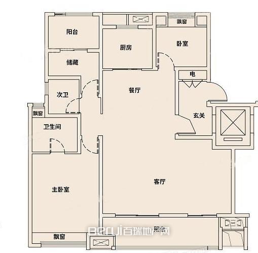 新城吾悦广场127户型