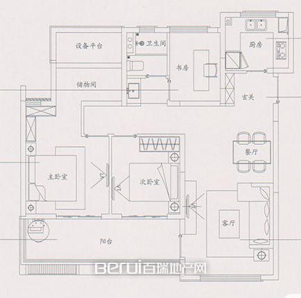4室4厅1卫106㎡