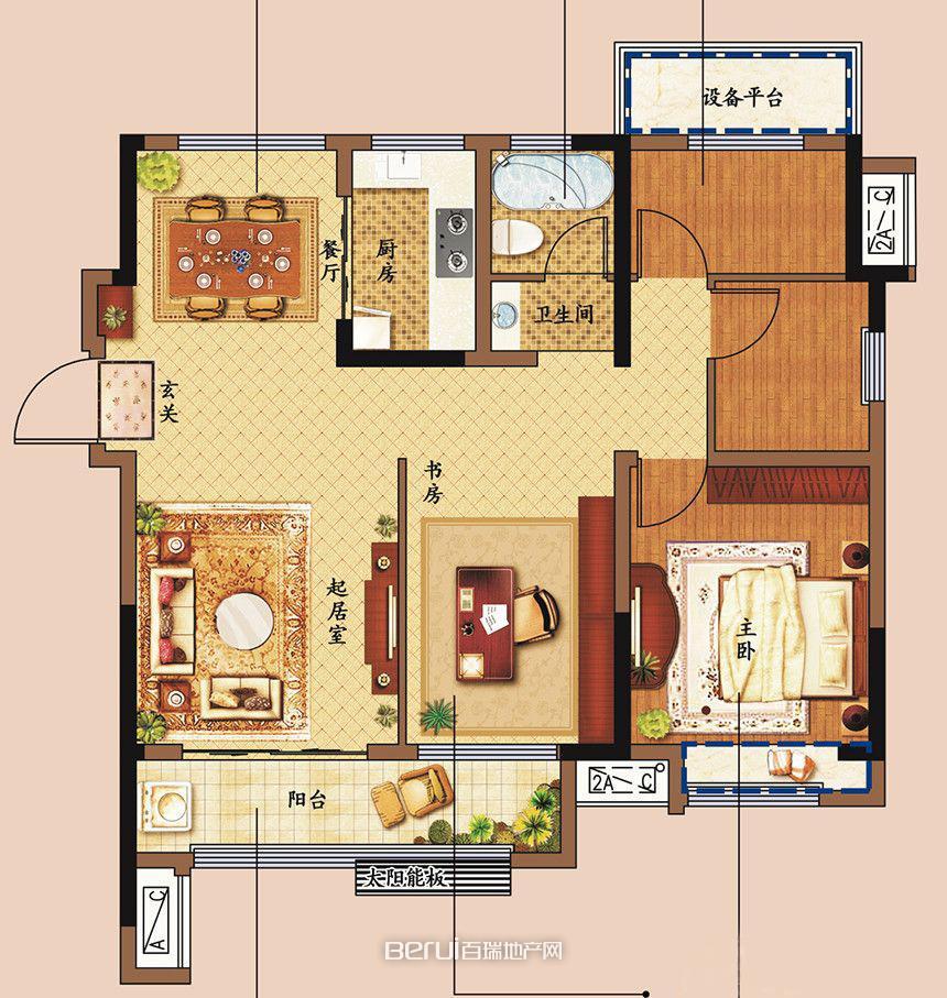 4室4厅1卫111㎡