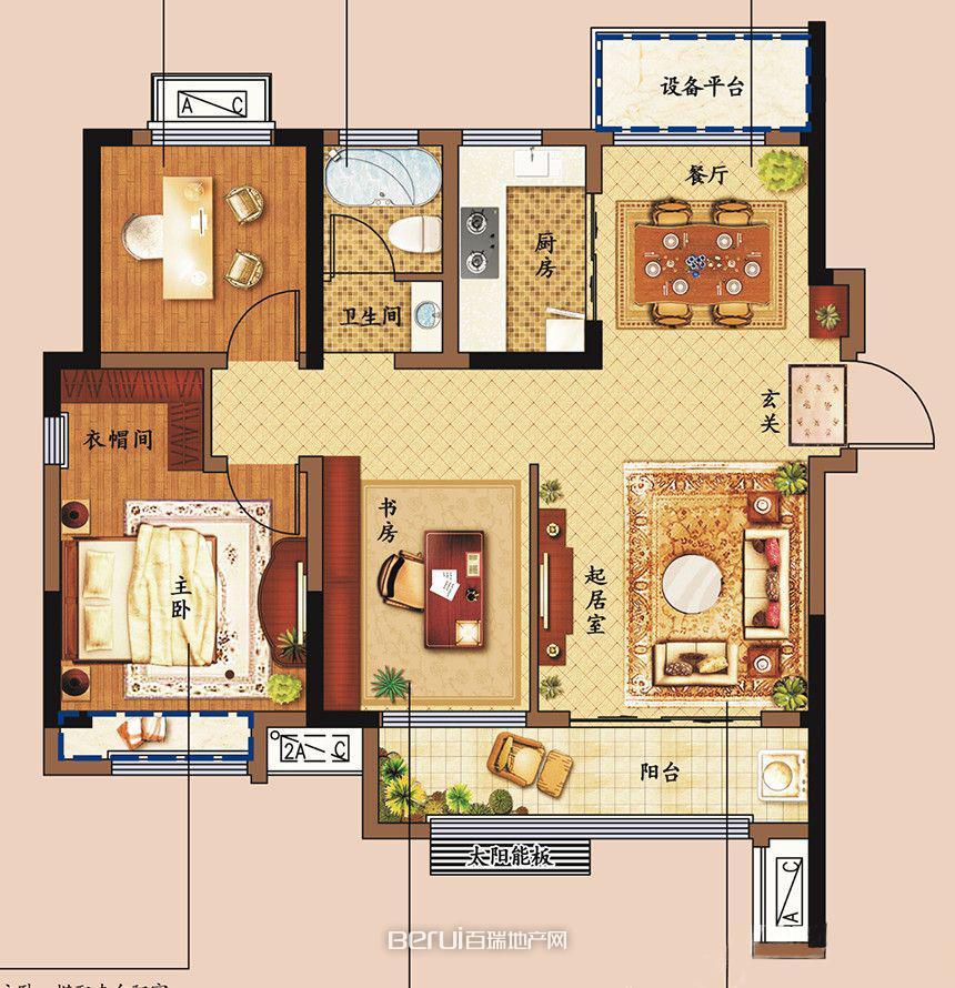 3室2厅1卫101㎡