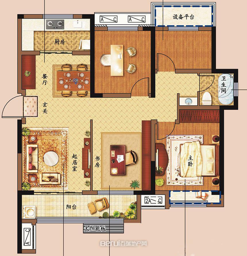 4室2厅1卫118㎡