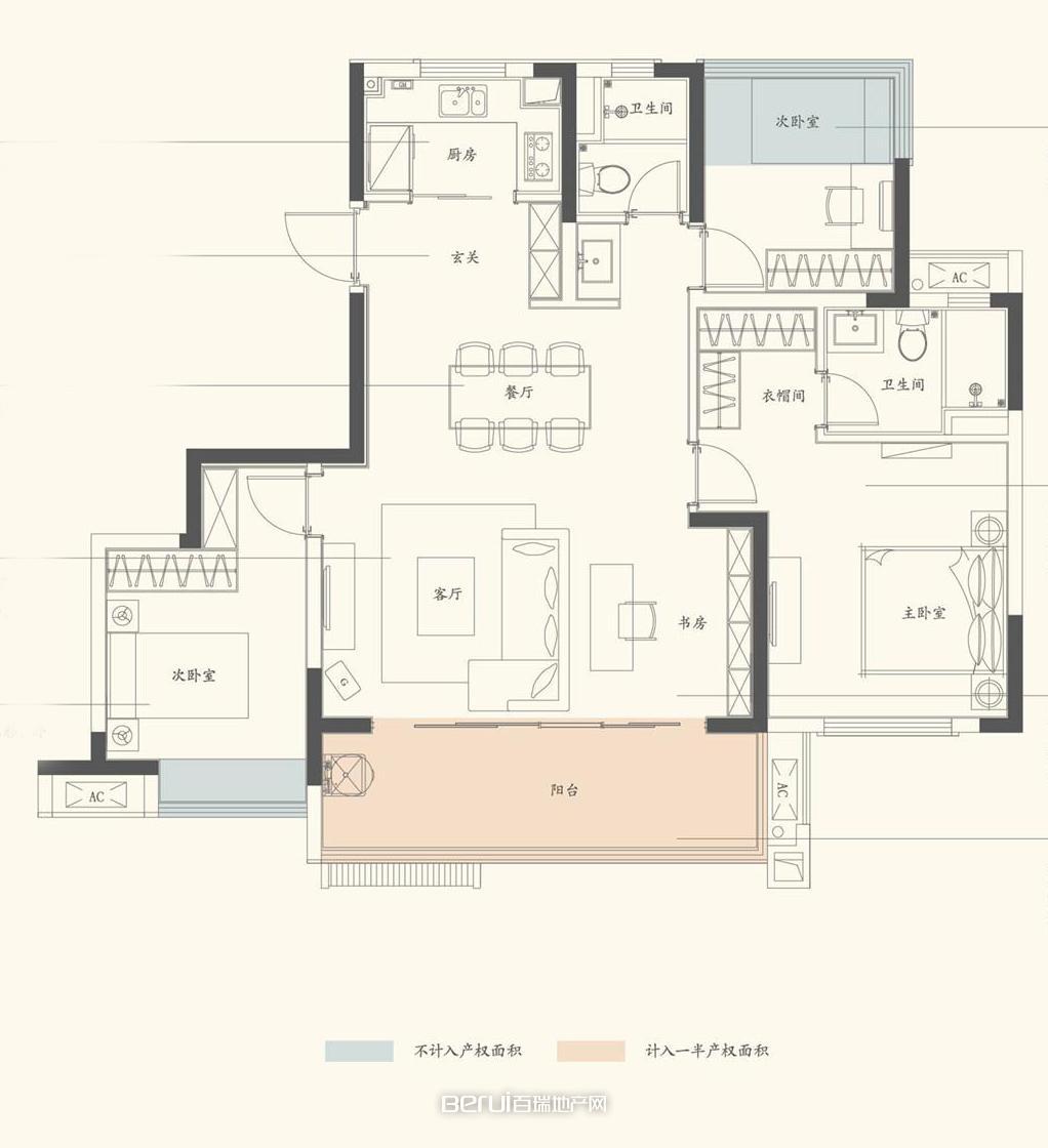 4室2厅2卫122㎡
