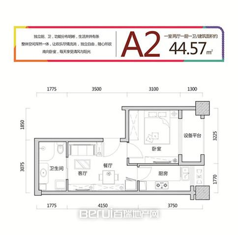 合肥世纪中心A2户型图