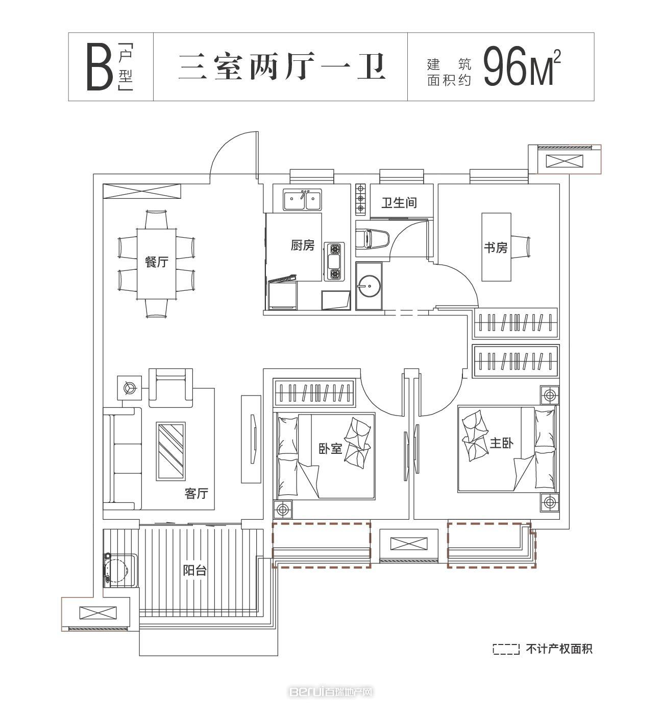 中国铁建悦湖国际户型图