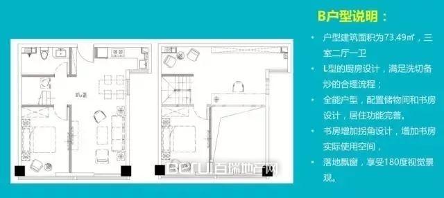 1室1厅1卫73.49㎡